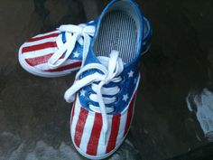 birthday shoes! July 4th baby:)