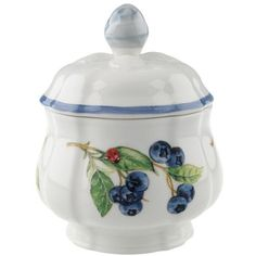 "Villeroy & Boch ""Cottage Inn"" Covered Sugar Bowl 6 3/4 (342.045 COP) ❤ liked on Polyvore featuring home, kitchen & dining, serveware and villeroy & boch"