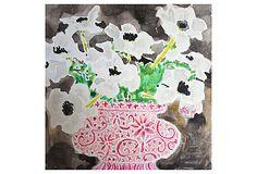 Kate Lewis, White Anemone in Pink Urn on OneKingsLane.com