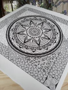 Judy's Zentangle Creations: Kitchmandala finished