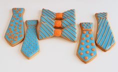 How fun are these necktie cookies?