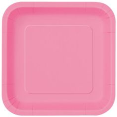 9u201d Square Hot Pink Dinner Plates 14ct  sc 1 st  Pinterest & Candy Pink Plastic Dinner Plates | Dinners and Products