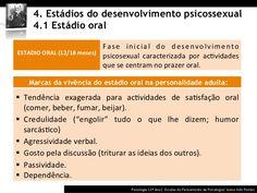 estágios do desenvolvimento psicossexual - fase oral