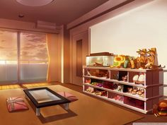 Bedroom House Anime Scenery Background Wallpaper