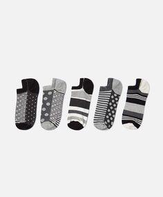 3er-Pack knöchellange Socken Happy