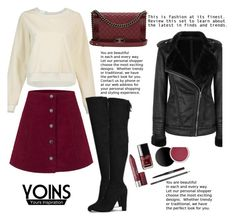 """""""YOINS"""" by elly-852 ❤ liked on Polyvore featuring Chanel, women's clothing, women's fashion, women, female, woman, misses and juniors"""