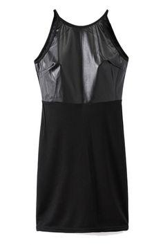 Slip PU Panel Bodycon Dress  #bhalo #beautifulhalo #fashion #michaelkors #h&m #outfit #dress #boots #jacket #denim #pants #jeans #sweater #sneakers #adidas #converse #prada #coat #bag #velvet #beanie #ugg #kimono #Chanel #GianvitoRossi #vintage #women's #clothing #fashion #women #female #woman #misses #Romper #Originals #mini #skirt #hoodie #shirt