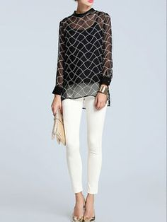 STYLEWE HOW DID I ONLY JUST NOW DISCOVER THIS SITE?  Pierced Silk Long Sleeved Top