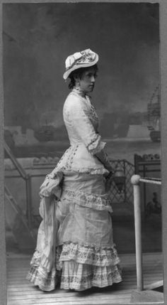 """Cast member of Gilbert & Sullivan's """"H.M.S. Pinafore,"""" 1879.  Courtesy the Library of Congress."""
