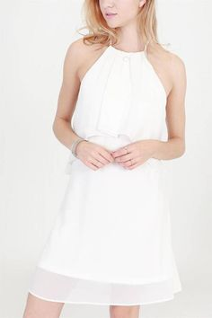fee8bbb94e8c Rose   Eye Claudia Tulip Dress White Halter Dress