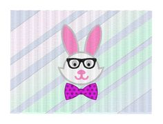 Easter Bunny Svg, Easter Bunny with Glasses & Bow Tie, Svg-Png-Eps-Dxf, Cutting Files For Silhouette Cameo/ Cricut, Instant Download. by CutItUpYall on Etsy https://www.etsy.com/listing/495388584/easter-bunny-svg-easter-bunny-with