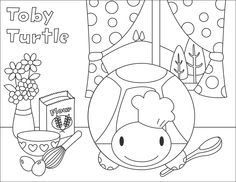 Toby Turtle coloring page for the kids #bumpidoodle #coloringpage