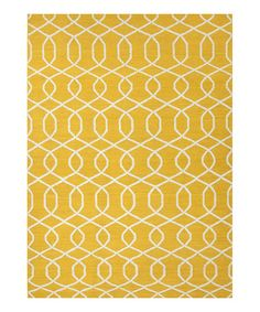 Take a look at this Yellow & Gold Flat Weave Geometric Rug by Jaipur Rugs on #zulily today! $139.99-$479.99