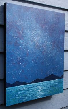 nocturn abstract painting painting on canvas by SageMountainStudio