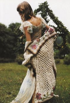 Angela Lindvall / Vogue Italia October 2001 by Mikael Jansson