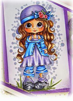 Rose Bud, Skin Tones: E000, E00, E11, E21, R20 Golden Brown Hair: E50, E53, E57 Dress/Hat/Socks: BV000, BV01, BV02, C4 Ribbon, Sweater, Pants: B21, B21, B24, B26, Shoes: c3, C5, C7, C9 Flower: R000, R20, R22, R24, G82, G94 Background BV20