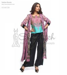Price: $12 - Libas ST-8872B by Shariq Textile is a short printed lawn fabric shirt that is stitched fabric on shoulders in dupatta style.