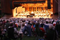 Something magical  happens when the sound of an orchestra mingles with chirping crickets, twinkling stars and a moonlit sky. Photo by Kat Koury. http://www.brittfest.org/classicalfestival