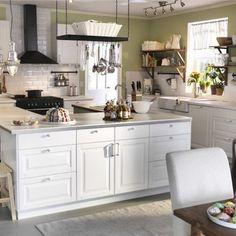 cucina isola ikea bianca   *Home*   Pinterest   Cucina, Interiors ...