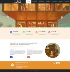 Maqueta de Sitio Web para Grupo Container