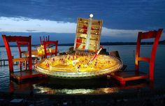 Yeah I'd like to see this in person. It is a floating stage for the Bregenz Festival in Austria and there are a lot of other looks to it.