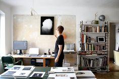 Henrik Strömberg's studio and apartment at Köpenickerstrasse in Berlin / photo by Anke Nunheim