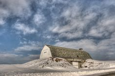 Old Potato House on Johnson Road in Presque Isle, Maine photo by Northscape Photography 2-11-14