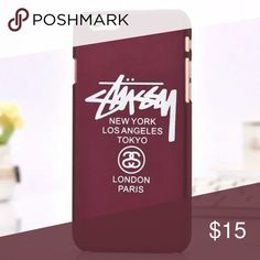 New Hard Back Case- iPhone 6 plus/ 6s plus 😎Classic Stussy lettering, hard case, color is wine with white print. New in package Accessories Phone Cases