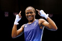 Nicola Adams  - First EVER female Olympic boxing champion. Ever. In history. First. And she's ours. Good Lass