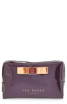 Ted+Baker+London+'Metallic+Bow'+Cosmetics+Case+available+at+#Nordstrom