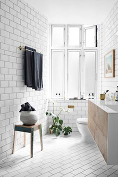 Bathroom - Take a look inside the Scandinavian home of stylist Pernille Teisbaek - bathrooms on HOUSE by House & Garden.