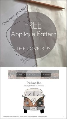 Love bus applique pattern