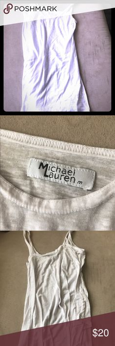 White Michael Lauren tank top Super comfortable and excellent condition. Perfect for summer :) michael lauren Tops Tank Tops