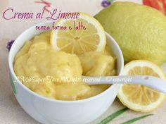 Crema al limone senza farina e latte