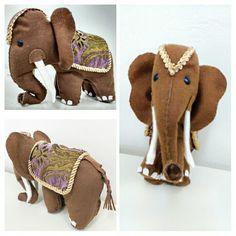 Elefante em feltro by Anapsiana