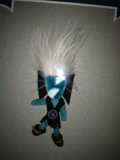 Another mini kachina! Toy army figure, broken earrings