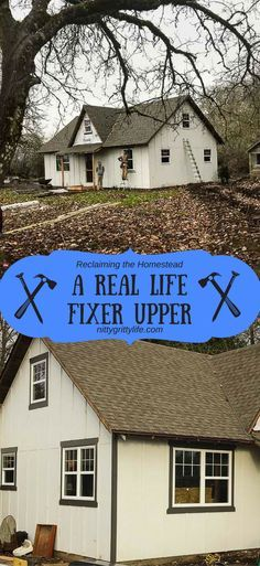 Completely renovating an old home is nothing like you see on HGTV. A real-life version of Fixer Upper is full of hard work and hardship, with hopes of a sweet reward. #fixerupper #renovation #remodel #homestead via @nittygrittylife