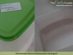 Homemade Natural Dishwasher Detergent (Easy, Effective, Healthy and Only .05 Per Load)