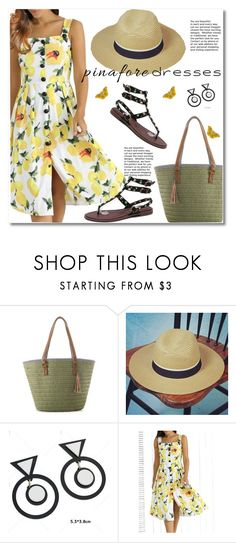 """""""60-Second Style: Pinafores"""" by svijetlana ❤ liked on Polyvore featuring pinafores and 60secondstyle"""