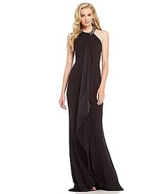 Marina Beaded ColdShoulder Gown #Dillards | Evening Gowns ...