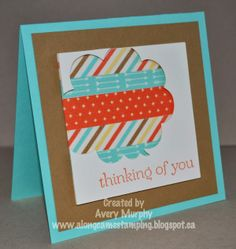 Along Came Stamping: RS#107 Thinking of You Word Bubble #StampinUp #SweetEssentials #ThinkingofYou