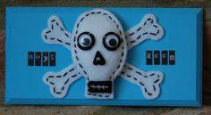 Handmade Children's Room Sign 'Boys Room' Felt Skull and Crossbones, pirate. Felt Skull, Local Craft Fairs, Alphabet Stickers, Mollie Makes, Room Doors, Room Signs, Skull And Crossbones, Making Memories, Home Decor Items