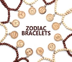GoodWoodNYC - Zodiac Sign Bracelets, $12.00 #woodenbracelet #woodbracelet #goodwoodnyc #Woodjewelry #beadedbracelet