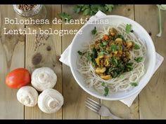 RECEITA Bolonhesa vegan de lentilhas | Vegan lentil bolognese - YouTube