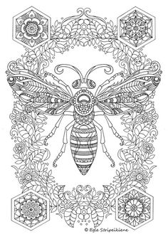 A3 coloring pages COLORS OF LIFE - egle art & design