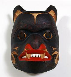 Provider by Phil Gray, red cedar mask, Northwest Coast Native Art