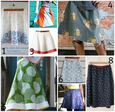 A Line Skirt patterns. clicking on this does not take you to the website.  go to mesewcrazy.com-it has a lot of good ideas/patterns most for free.