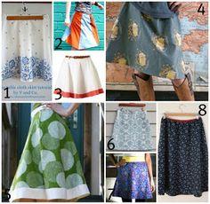 A Line Skirt patterns