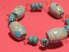 Turquoise and Copper Bracelet by soyon on Etsy, $16.00
