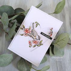 Grußkarte made by Stempelhead mit dem Designerpapier Vogelgarten von Stampin' Up! Stampinup, Beautiful Handmade Cards, Bird Cards, Some Cards, Stamping Up Cards, Anniversary Cards, Making Ideas, Cardmaking, Designer